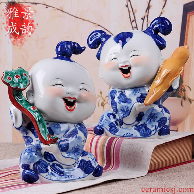 Jingdezhen ceramics handicraft furnishing articles household act the role ofing is tasted sitting room decoration decoration wedding gift ideas