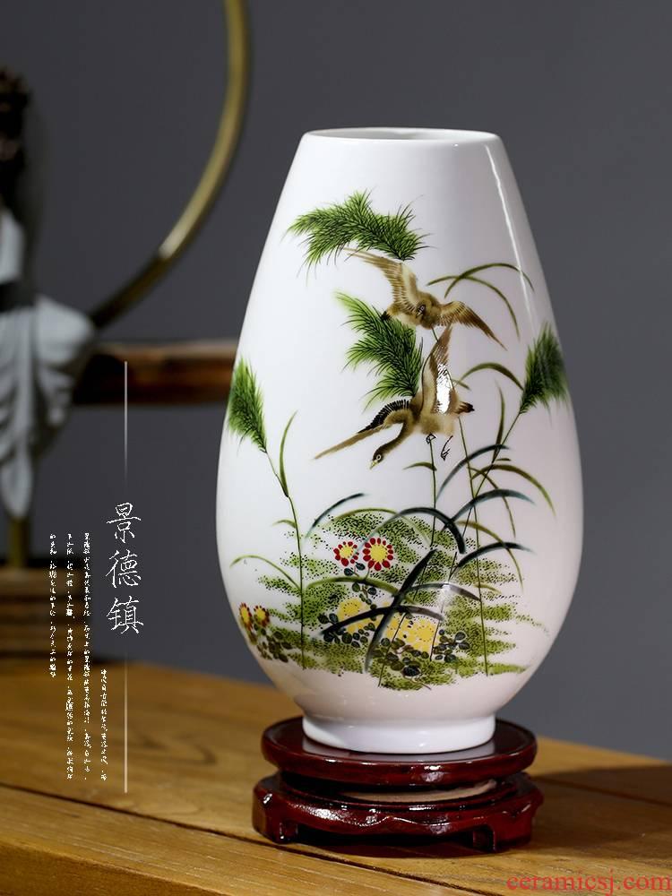 Floret bottle of jingdezhen ceramics porcelain home decoration flower arranging new Chinese style living room TV cabinet handicraft furnishing articles