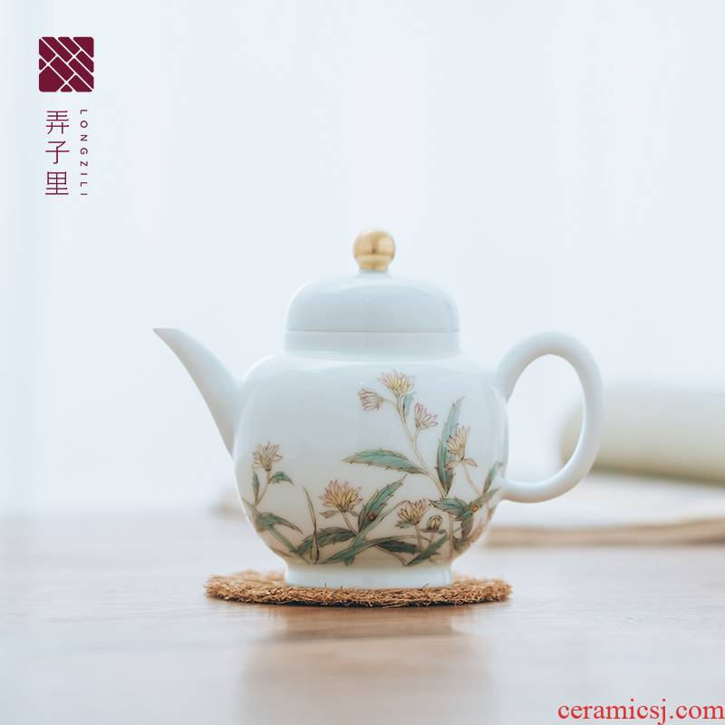 Made in jingdezhen porcelain kung fu tea teapot pure manual hand - Made capacity big palace the lantern is not it