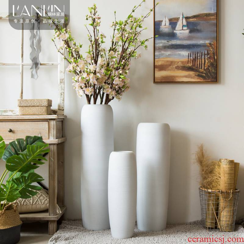 Nordic white ceramic vase suit house sitting room flower arranging dried flower furnishing articles I and contracted landing window decoration