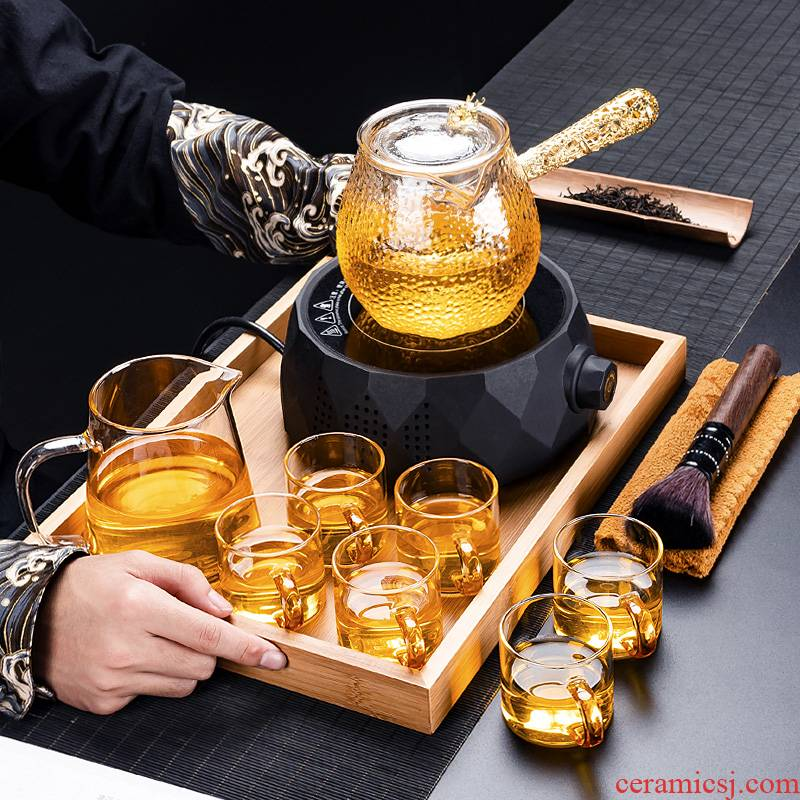 Electric TaoLu boiling tea ware household glass tea stove suit small cooking and pot of pu 'er tea tea is black and white