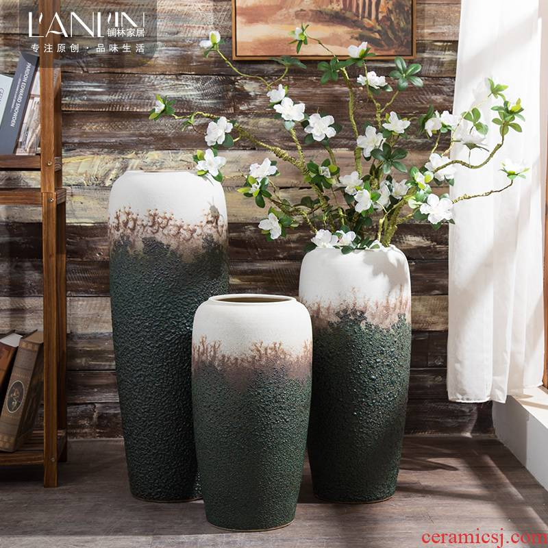 Ceramic vase furnishing articles sitting room decoration ideas dried flower arranging flowers large vases, contracted and I household adornment