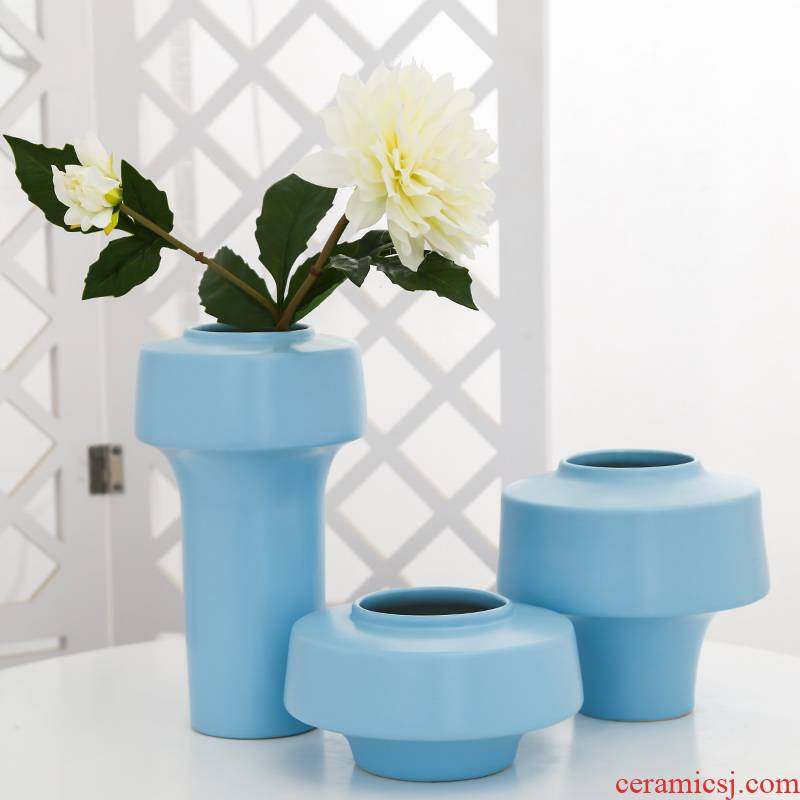 Mesa of jingdezhen ceramic vase sitting room adornment balcony between example simulation artificial flowers home hydroponic furnishing articles