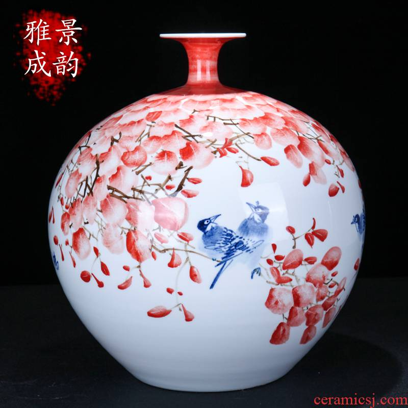Jingdezhen ceramic new Chinese style much luck craft vase home sitting room porch flower arranging, adornment is placed