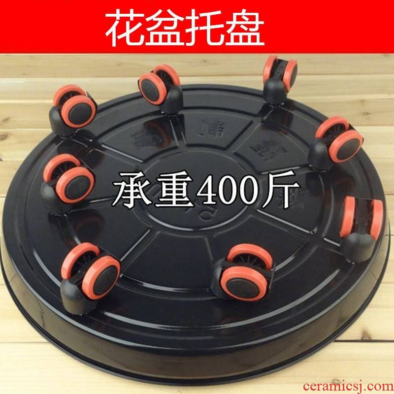 Showy pulley sliding wheel planter base tray was home ground bracket breathable, wrought iron mat room place other people use