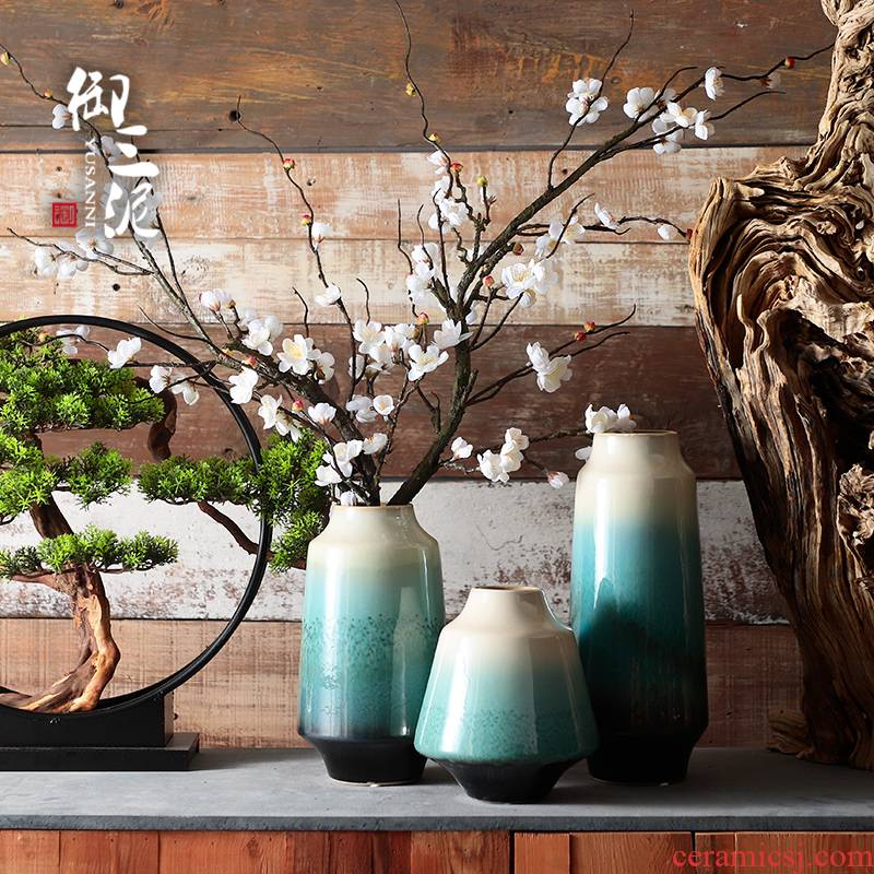 New Chinese style ceramic vases, furnishing articles decorations sitting room dry flower implement creative decoration zen Japanese TV ark