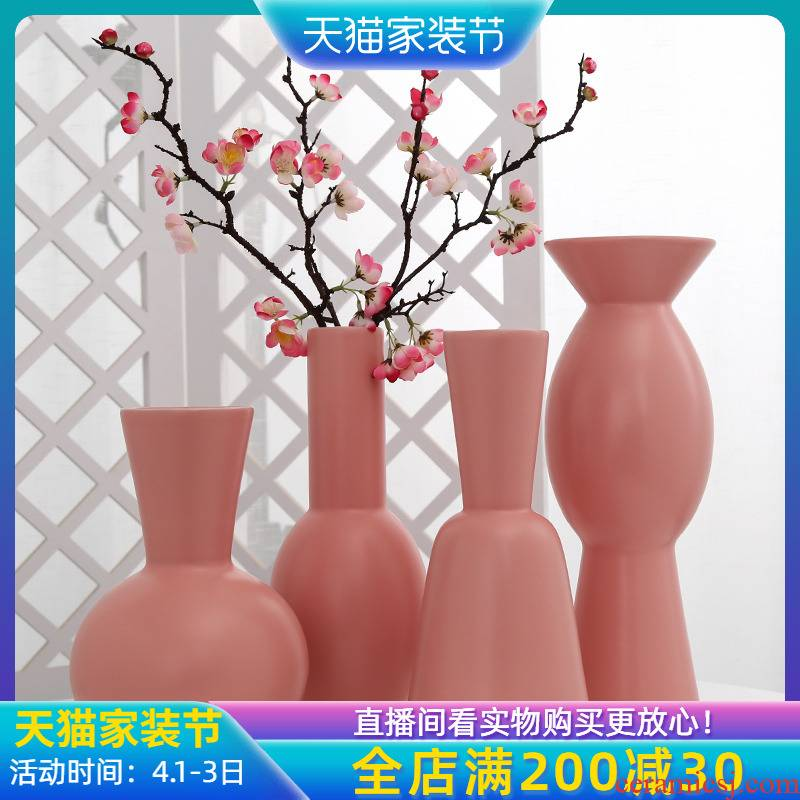 Jingdezhen ceramic creative floret bottle arranging flowers sitting room furnishing articles for household adornment ornament balcony simulation artificial flowers
