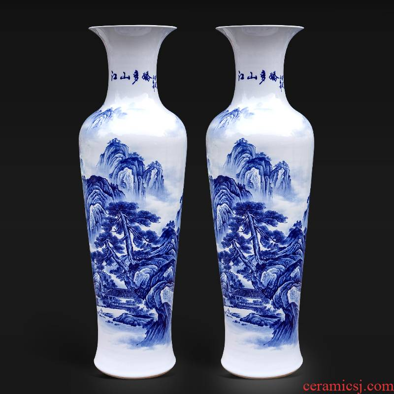 Jingdezhen ceramic vase hand - made porcelain jiangshan much charming Chinese style living room office furnishing articles hotel opening gifts