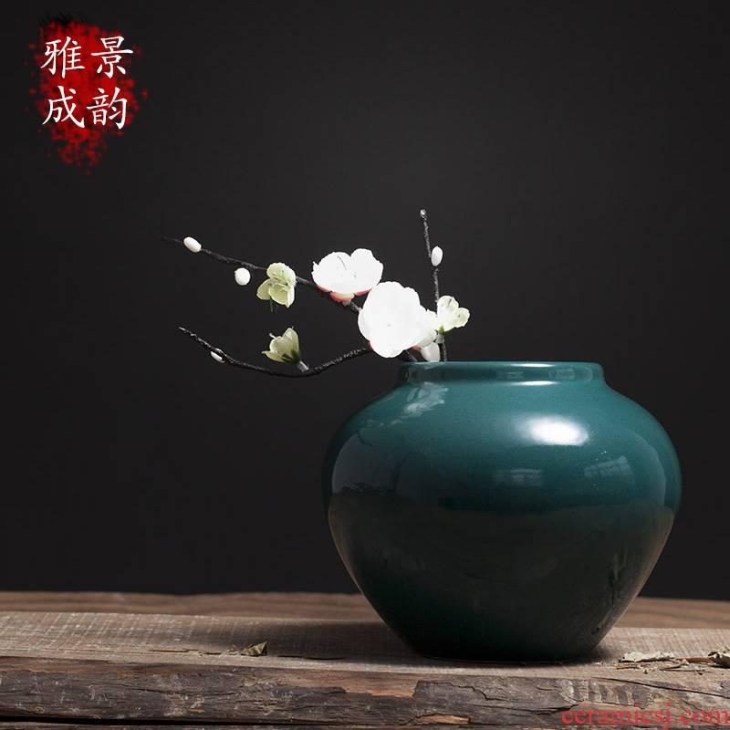 Jingdezhen ceramics hotel table flower arranging dried flower vase decoration furnishing articles household porcelain decoration in the sitting room
