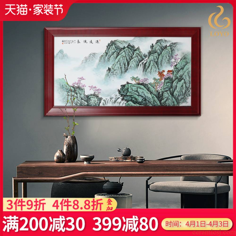 Jingdezhen porcelain plate painting hand - made adornment has a long history of Chinese style living room sofa background wall porch hang a picture