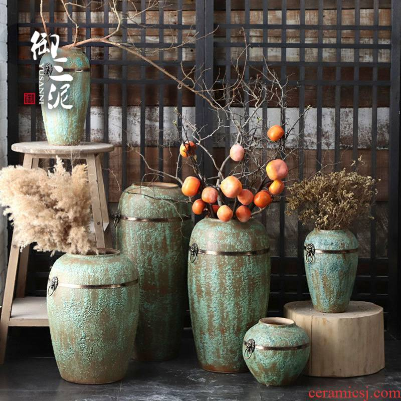 Jingdezhen coarse field all over the sky star, some ceramic pot, fleshy dry flower vase to restore ancient ways small and pure and fresh flower arranging furnishing articles sitting room