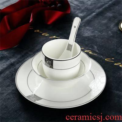 Hotel Hotel tableware ipads plate fins bowl spoon, cup 4 times chopsticks rack silver edge of up phnom penh Hotel restaurant ceramics tableware