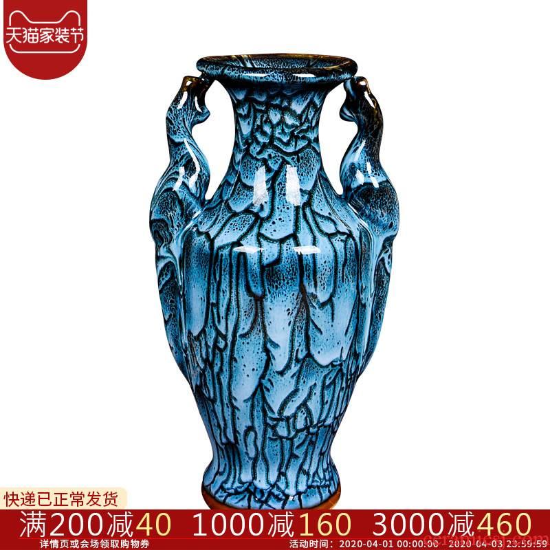 Cb64 archaize of jingdezhen ceramic up of jun porcelain vases, flower arrangement sitting room home decoration wine porch place