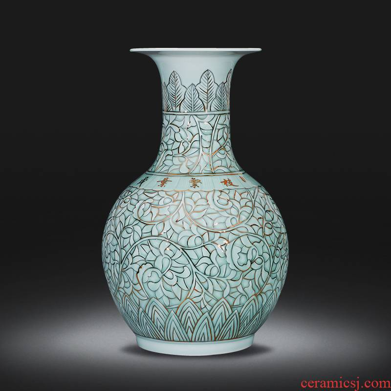 Jingdezhen ceramics hand - made paint design Chinese style porch place big vase flower arrangement home sitting room adornment