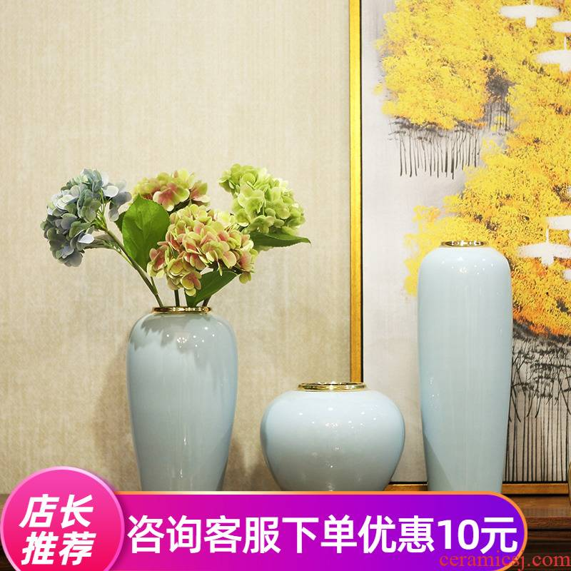 Light new Chinese vase key-2 luxury furnishing articles dried flower arranging flowers sitting room TV ark, I and contracted ceramic home decorations