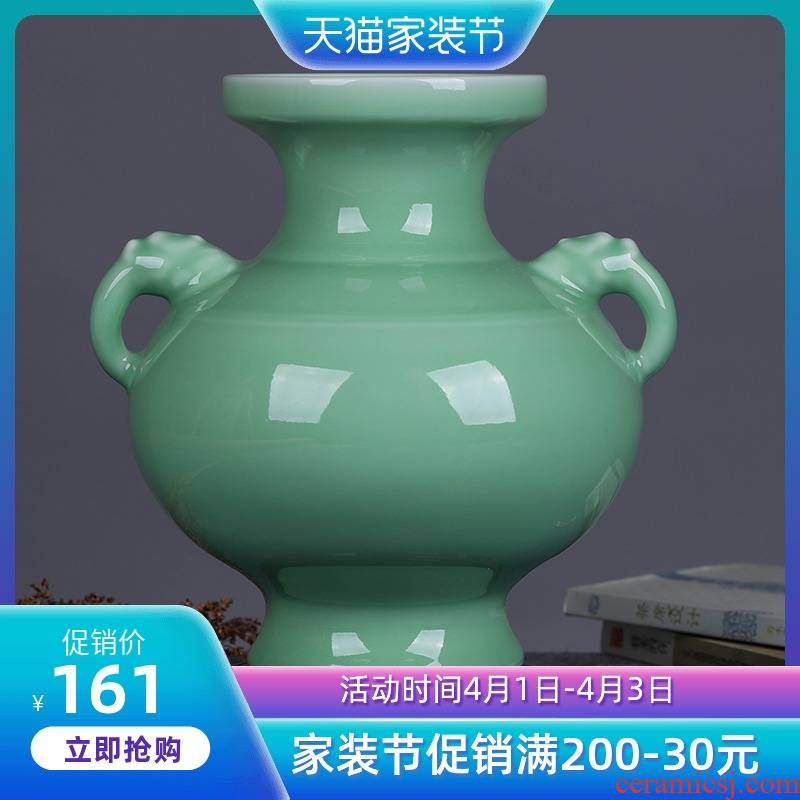 Jingdezhen ceramic elephant vases, flower arranging new classical Chinese style restoring ancient ways furnishing articles hydroponic crafts vase in the living room