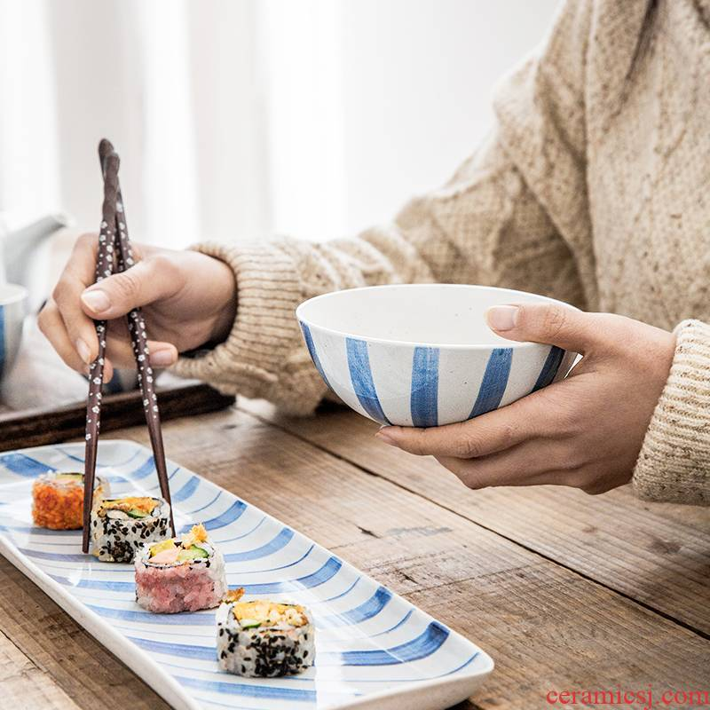 Lototo ceramic bowl of household food porringer salad bowl dessert bowl of noodles for breakfast baby bowl bowl mercifully rainbow such use