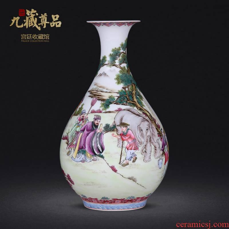 Jingdezhen ceramics twelve filial piety pastel hand - made vases furnishing articles sitting room flower arranging the modern home decoration decoration