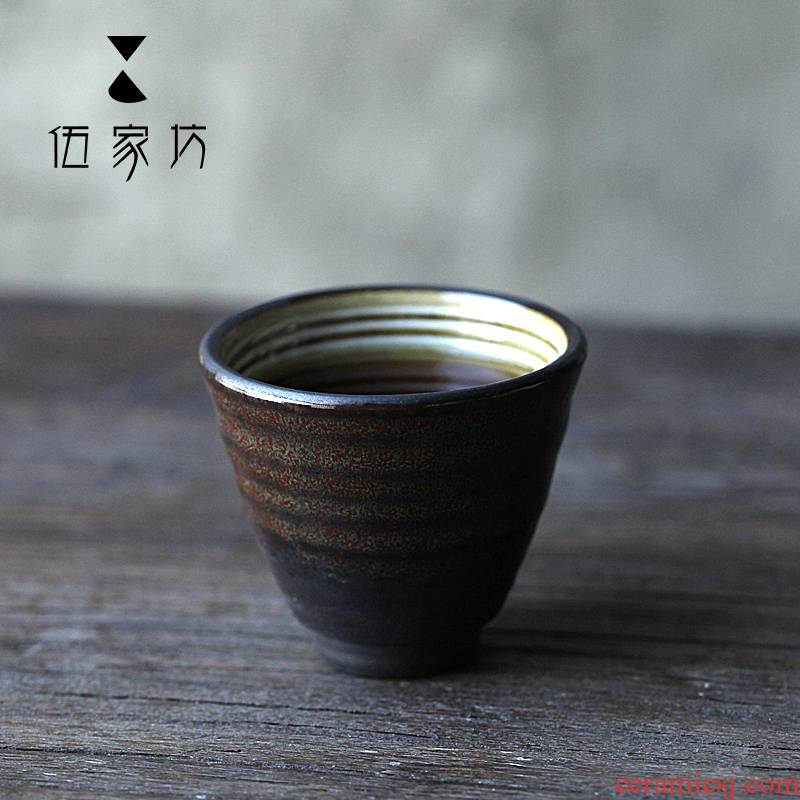 The Wu family fang found in large sample tea cup cup by hand Japanese tea masters cup single glass ceramic kung fu tea cups