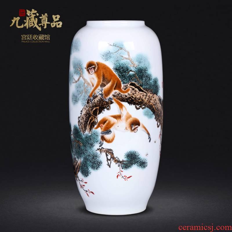 The Master of jingdezhen ceramics hand - made pastel seal hou figure vase sitting room porch decoration crafts are TV ark