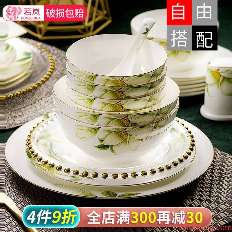Ipads China eat bread and butter of household utensils yellow up phnom penh dish dish dish dish ceramic European - style originality noodles in soup bowl of soup bowl individual