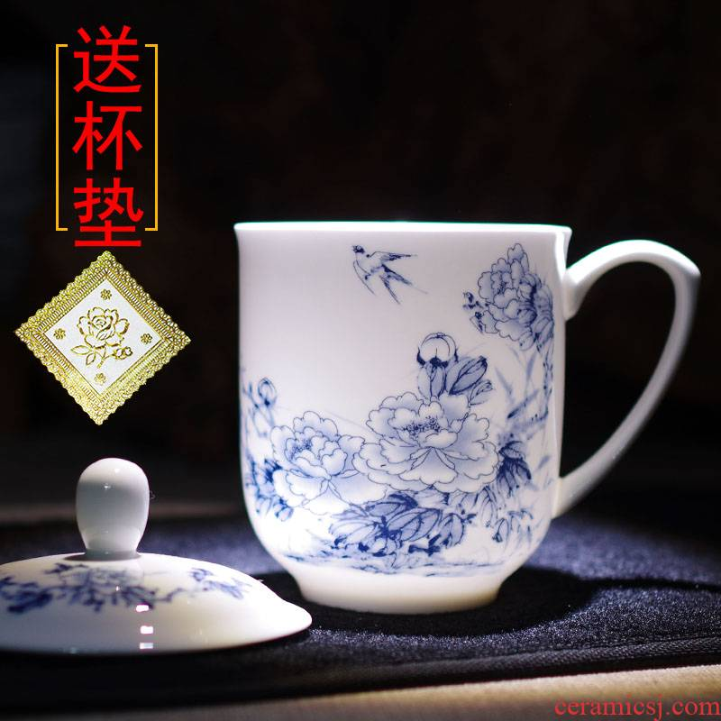 Catalpa xin jingdezhen ceramic cups with cover office cup cup customizable keller cup and meeting