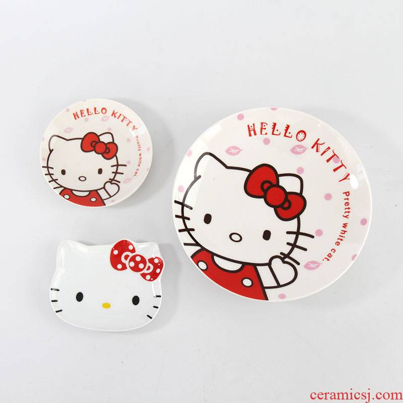 Cost of cartoon clearance price rice bowl bowl plates, lovely breakfast dish bowl shaped household ceramic plate