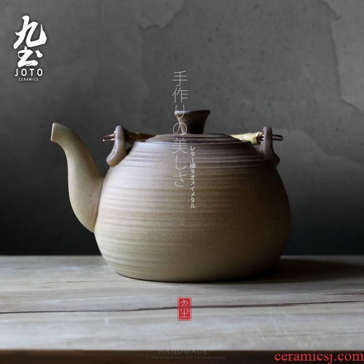 About Nine soil tea health tea alcohol furnace black tea kettle bamboo girder retro as ceramic mercifully boiling pot clay pot