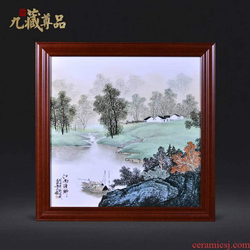 Jingdezhen ceramics Liu Shuwu hand - made jiangnan YuXiang adornment porcelain plate paintings of Chinese style household crafts