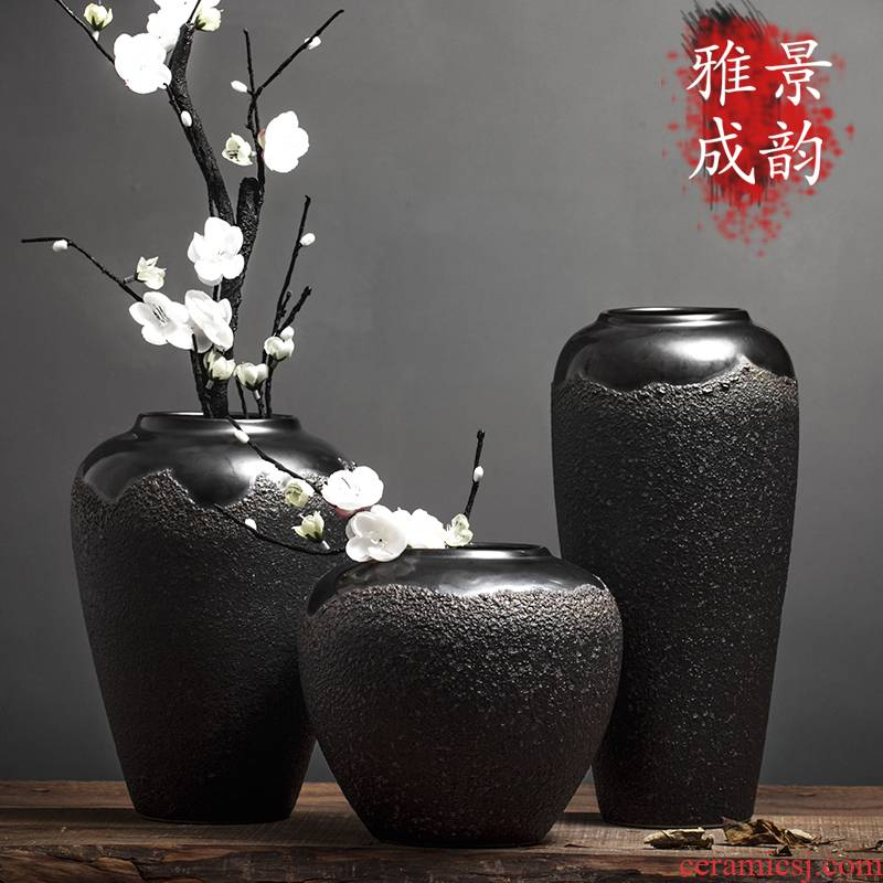 Jingdezhen ceramic furnishing articles of new Chinese style living room porcelain vase hydroponic furnishing articles decorative vase vase planting restoring ancient ways