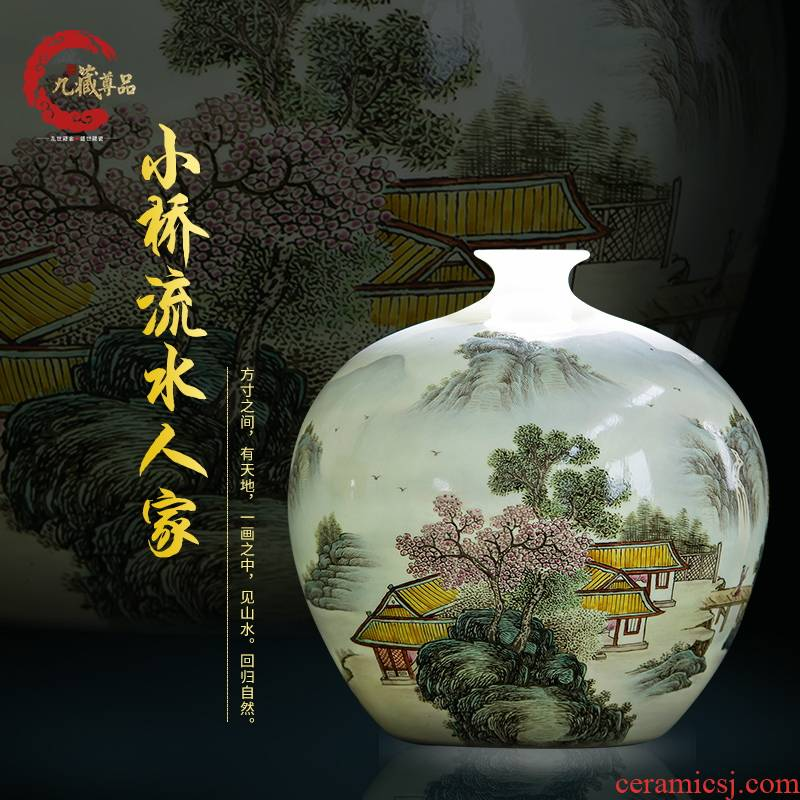 Jingdezhen ceramics handicraft Bridges the somebody else can furnishing articles storage tank ornaments ornament