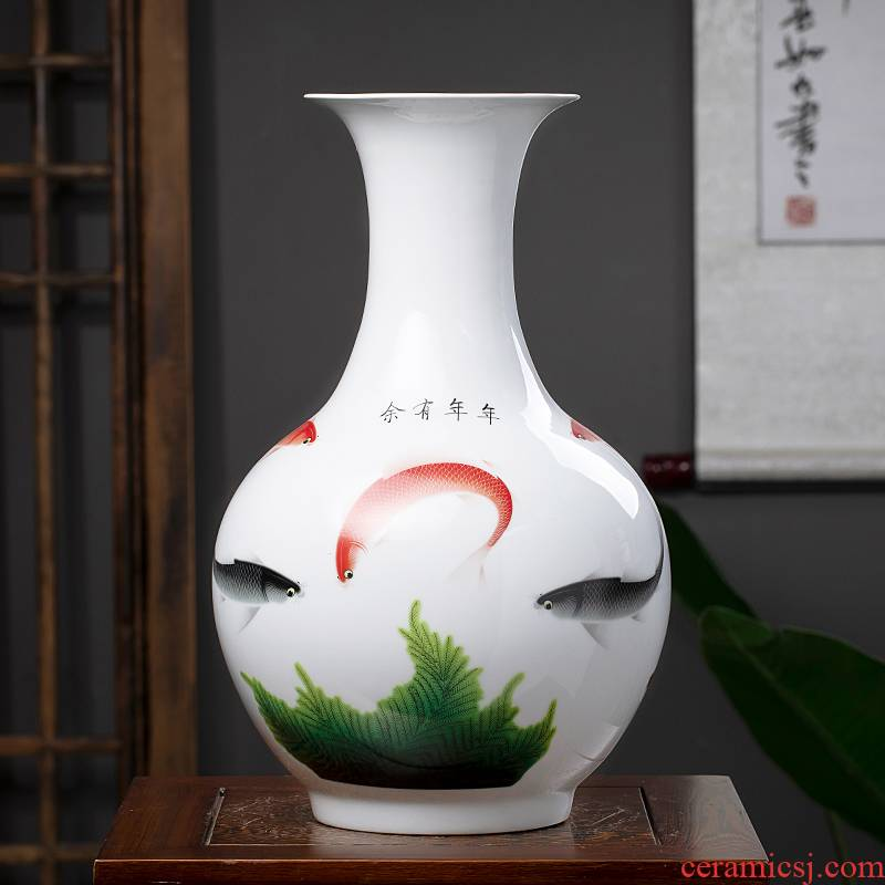 Jingdezhen ceramics Chinese vase household flower arranging the sitting room porch decoration rich ancient frame furnishing articles in successive years