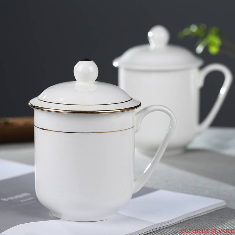 Jingdezhen ceramics with cover cup personal office cup home ipads porcelain cup custom paint and meeting gift mugs
