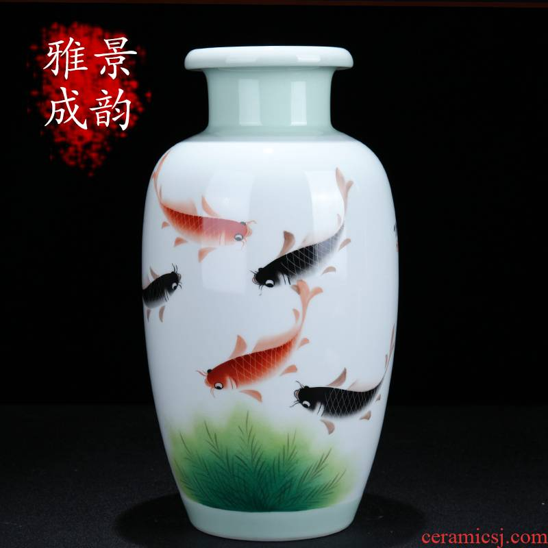 Jingdezhen ceramic I and contracted more than year after year flower arranging the sitting room porch porcelain vase household decorative furnishing articles