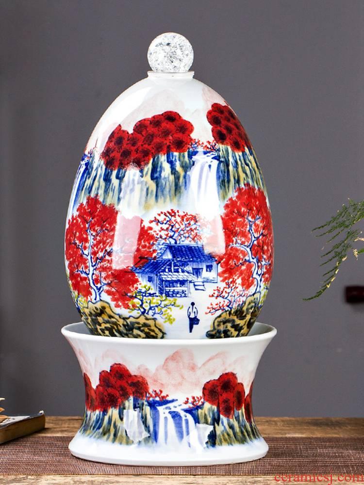 Jingdezhen ceramics creative hand - made water fountain humidifier sitting room feng shui soft outfit home furnishing articles