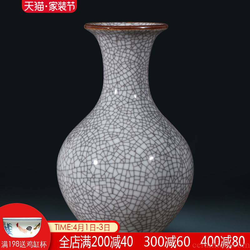 Jingdezhen ceramics, vases, flower arranging furnishing articles archaize sitting room of Chinese style restoring ancient ways wine rich ancient frame home decoration