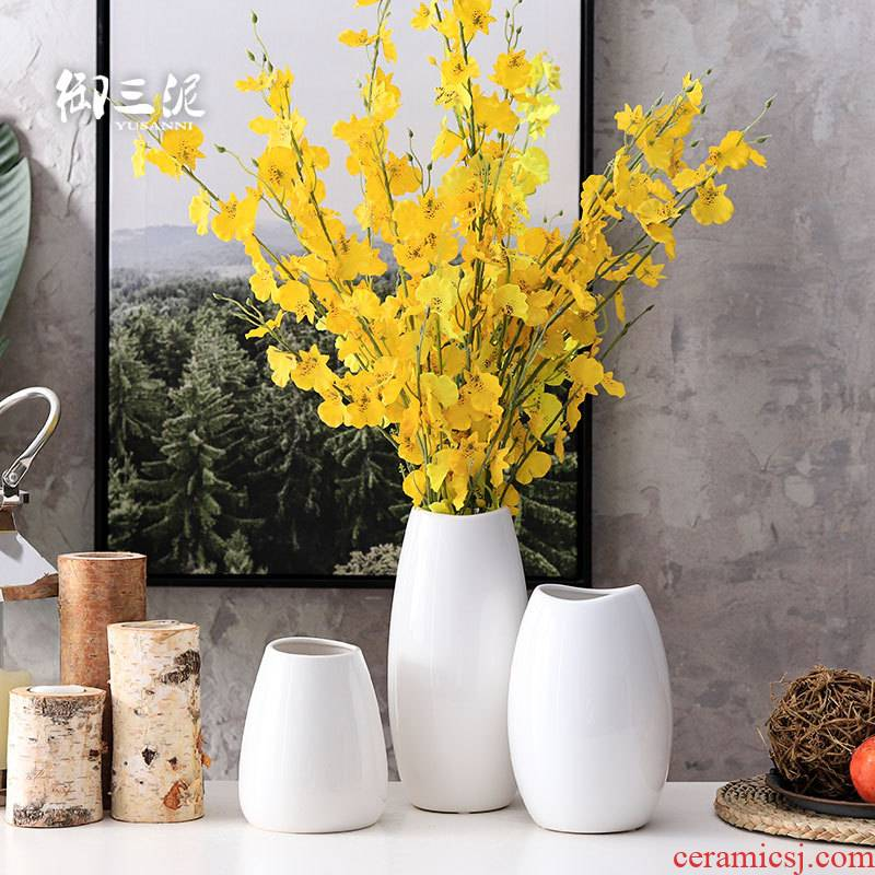 Dried flowers European contracted sitting room flower arranging decorative furnishing articles all over the sky star, Nordic vase the white household ceramics
