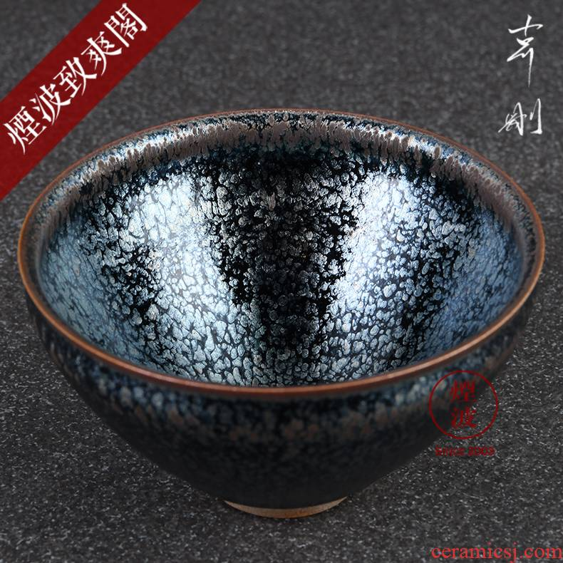 Those Japanese pottery master expedition just to show off the oil temmoku built sample tea cup tea cup