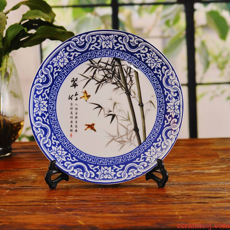 Ye04 jingdezhen ceramics decoration plate hanging dish sitting room TV ark, wine ark, adornment furnishing articles by patterns