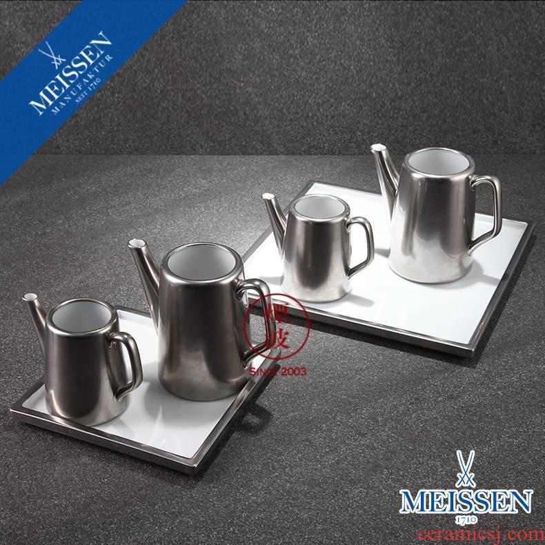 German mason MEISSEN porcelain Cosmopolitan platinum series coffee creamer combination