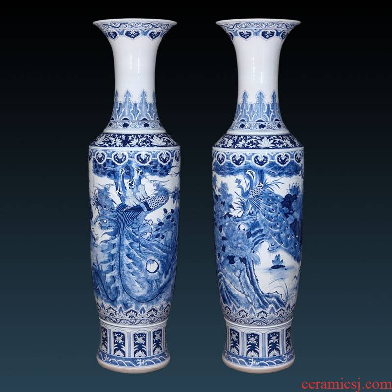 Jingdezhen ceramics hand - made archaize of large blue and white porcelain vase to heavy large hotel lobby decoration furnishing articles