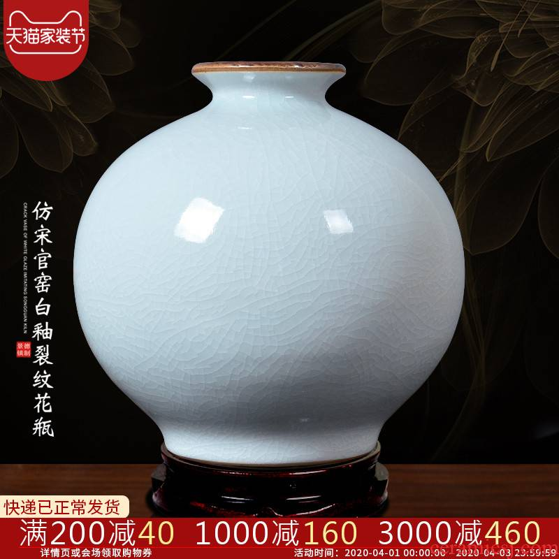 Archaize of jingdezhen ceramics up vases, flower arrangement of Chinese style white home sitting room ark adornment furnishing articles d7