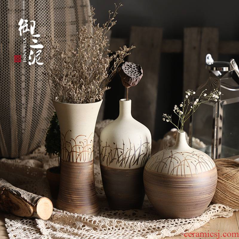 The Desktop flower arranging dried flower flower exchanger with the ceramics decoration restoring ancient ways furnishing articles contracted sitting room of Chinese style table household floret bottle