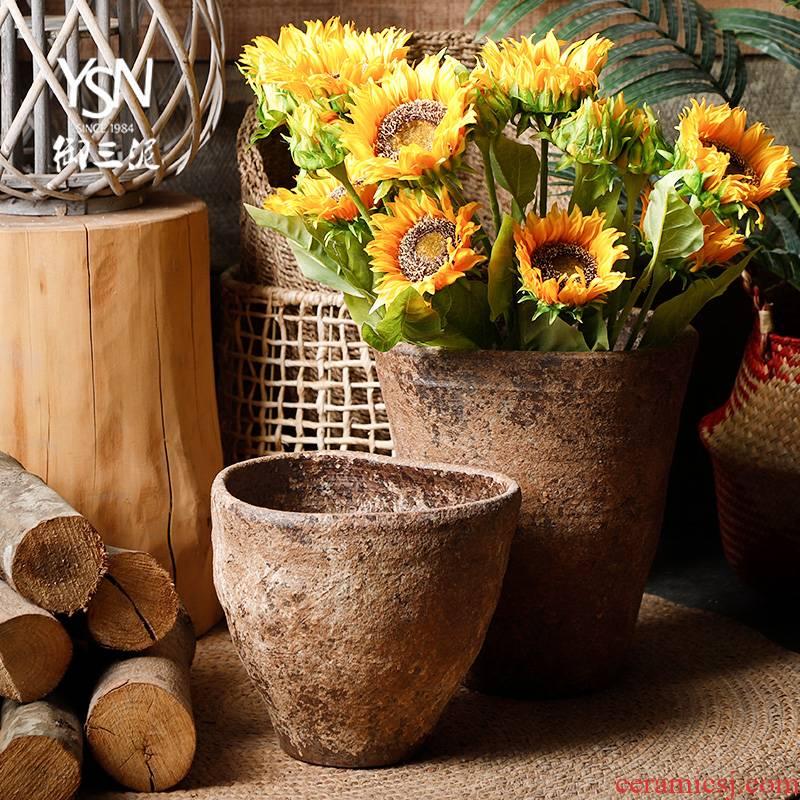 POTS zen master flowerpot jingdezhen ceramic vase hand for Japanese teahouse TaoHua do old much meat