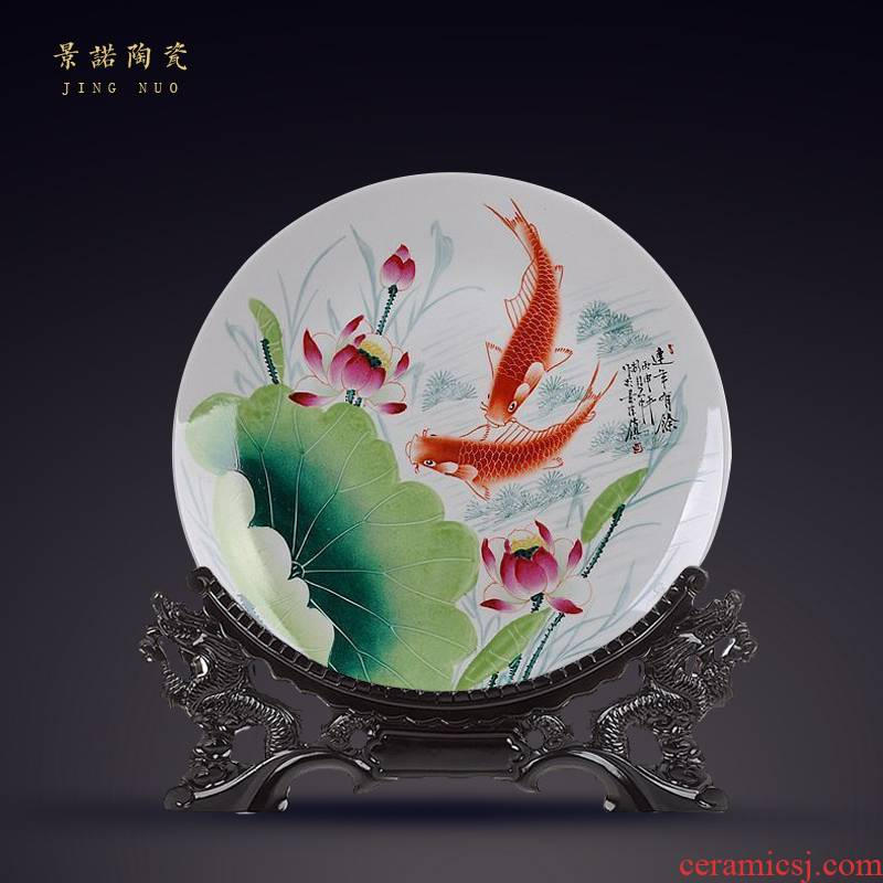 Scene, hang dish jingdezhen ceramics decoration plate of hand - made from the successively more than sit plate handicraft furnishing articles