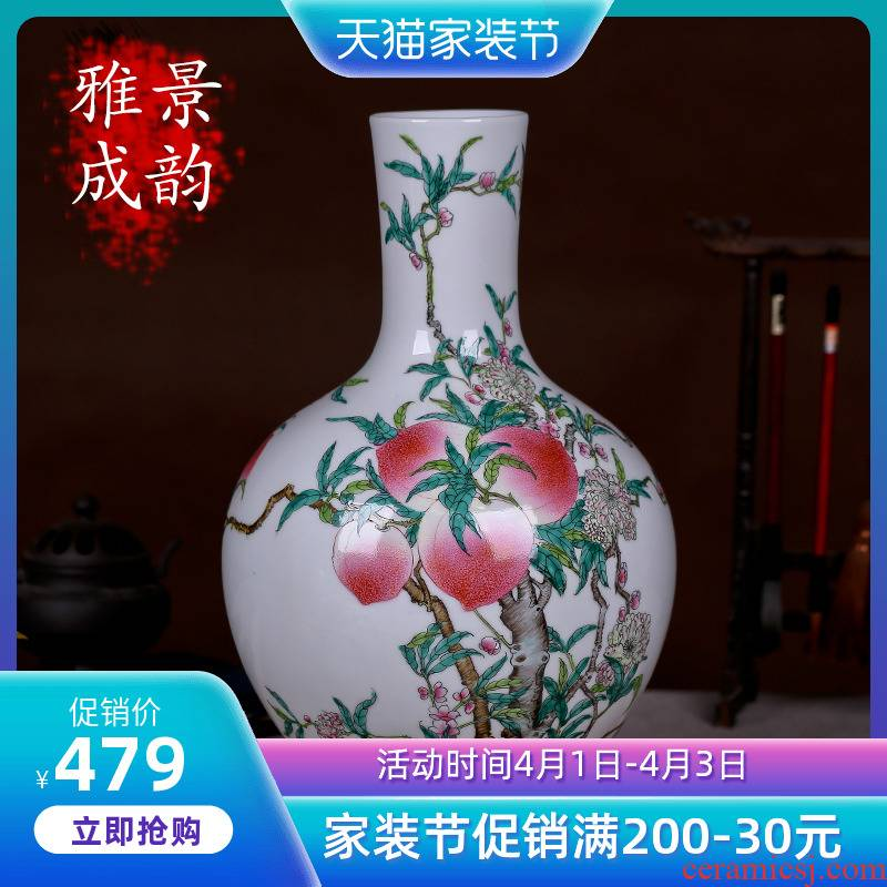 Jingdezhen ceramics archaize peach tree, a new Chinese arts and crafts decorative furnishing articles antique household act the role ofing is tasted