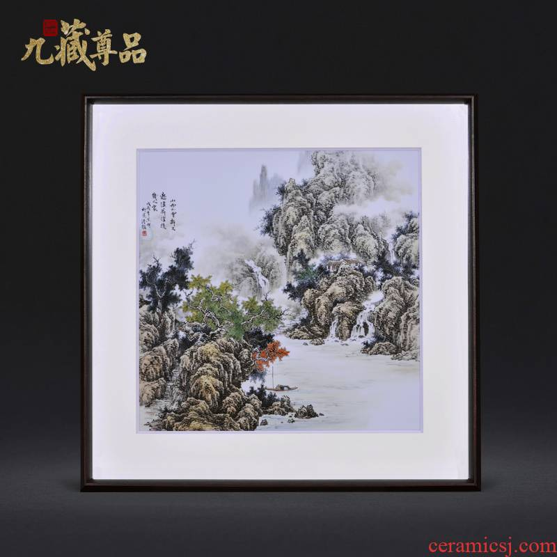 Jingdezhen ceramic dong - Ming li masters of hand - made cloud figure adornment porcelain plate paintings of Chinese style household decoration