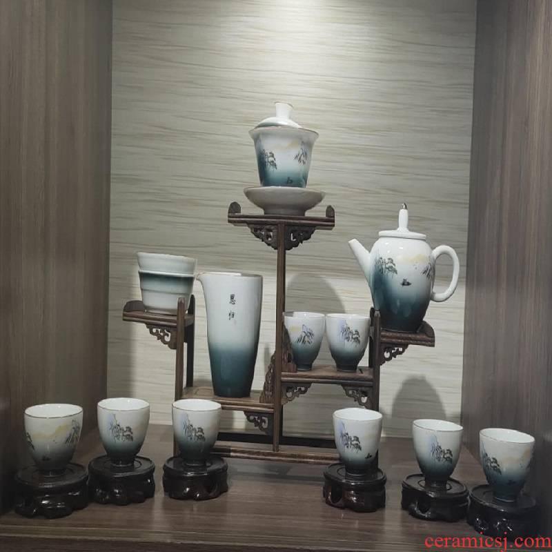 Jingdezhen porcelain tea set. 1280