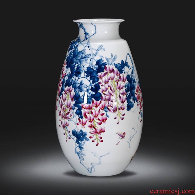 Famous master of jingdezhen ceramics hand - made vases furnishing articles sitting room of Chinese style household decoration porch decoration