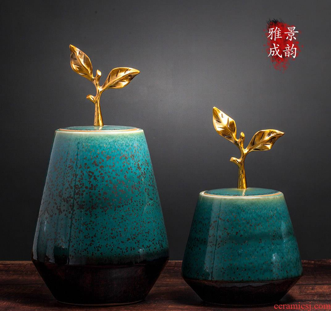 Jingdezhen ceramic new Chinese vase furnishing articles household act the role ofing is tasted, the living room table decoration porcelain vase handicraft